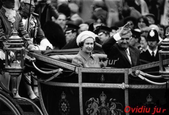 Nicolae Ceausescu Regina Elisabata 13 iunie 1978