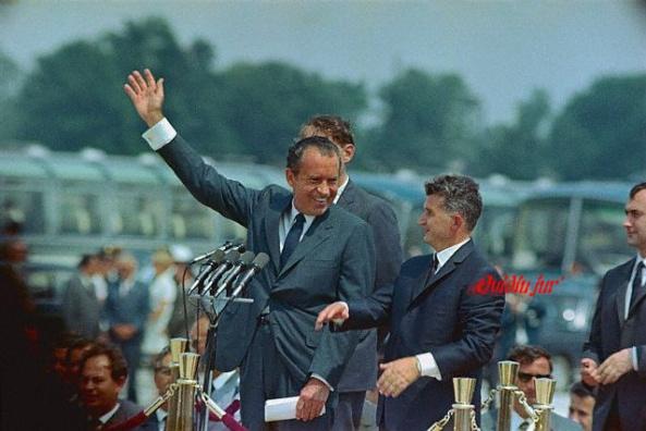 Ceausescu impreuna cu Richard Nixon la Bucuresti