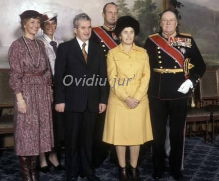 Ceausescu cu printesa Sonja,si Astrid, si printu Harald la Oslo