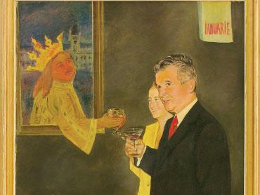 In pictura apar sotii Ceausescu impreuna cu Stafan Cel Mare