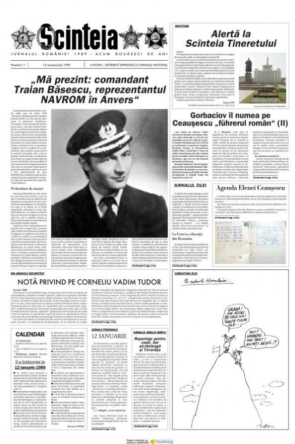 Traian Basescu se prizinta in ziarul Scintea
