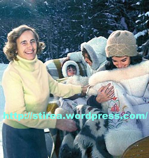 Elena Ceausescu Daniel Iordana si Poliana Ceausescu la Predeal in 1984