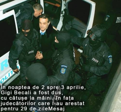 Gigi Becali arestat