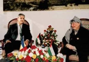 Adrian Nastase Yasser Arafat