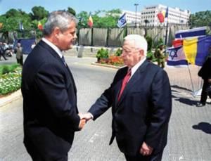 Adrian Nastase cu Ariel Sharon