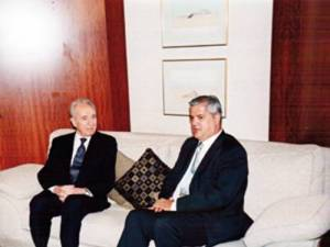 Adrian NastaseS imon Peres