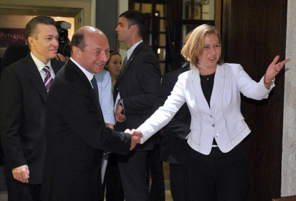 Traian Basescu Tzipi  Livni