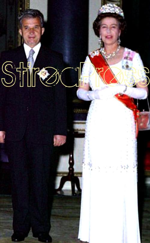 Nicolae Ceausescu Regina Elisabeta