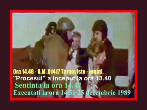 Sotii Ceausescu legati ora 14.48