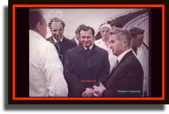 Ion Iliescu impreuna cu Nicolae Ceausescu