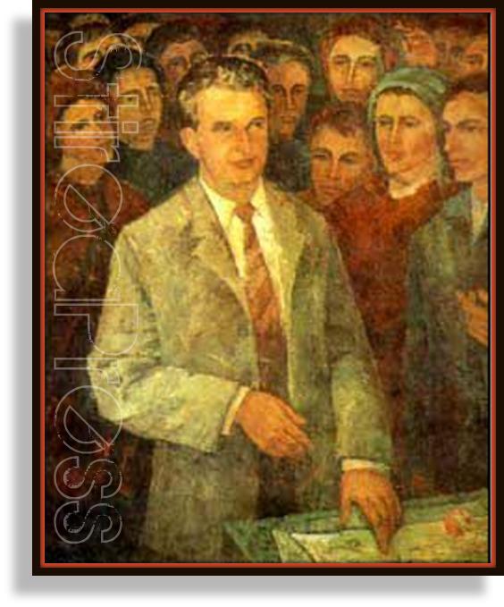 Nicolae Ceausescu pictat