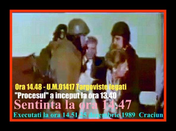 Elenasi Nicolae Ceausescu LEGATATI SI EXECUTATI