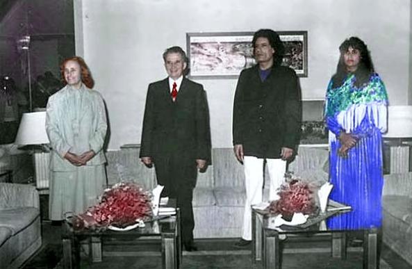 Sotii Ceausescu Gaddafi si Zsófia Farkas